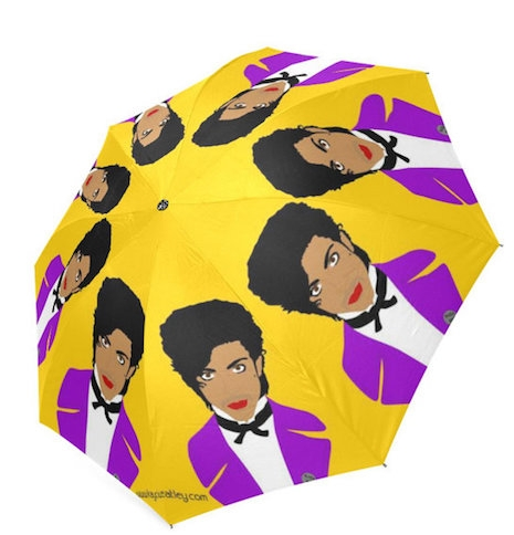 Prince in purple umbrella