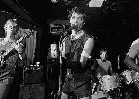 A punk band on the stage of Raul's in Austin, Texas, 1980