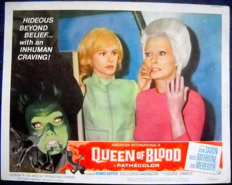 Lobby card for Queen of Blood, 1966