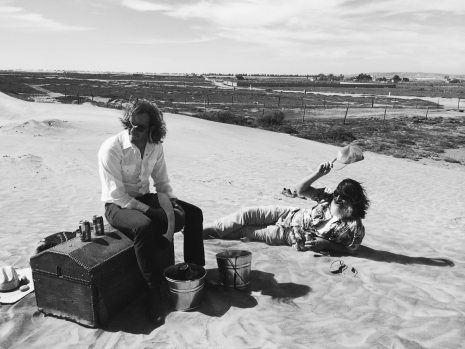 Tatarex and Spencer Dunham of the Allah Las on location in Baja, Mexico (2014)