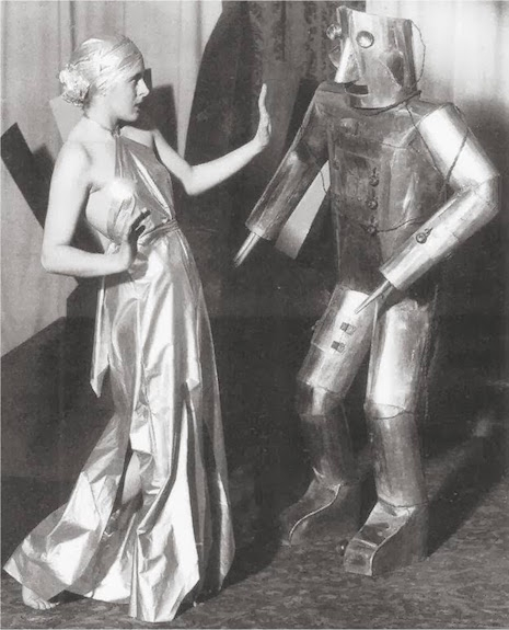 Robot and a woman, 1930s