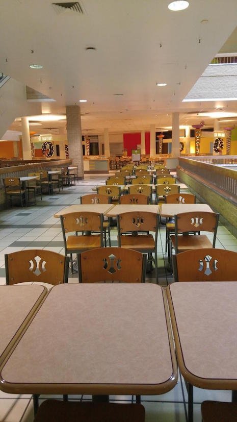 The empty food court at the Century III mall