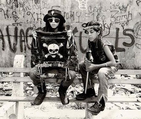 Young members of the Savage Skulls gang