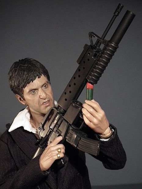 Tony Montana War version with Colt CR-15