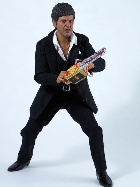 Tony Montana War figure with fan made chainsaw