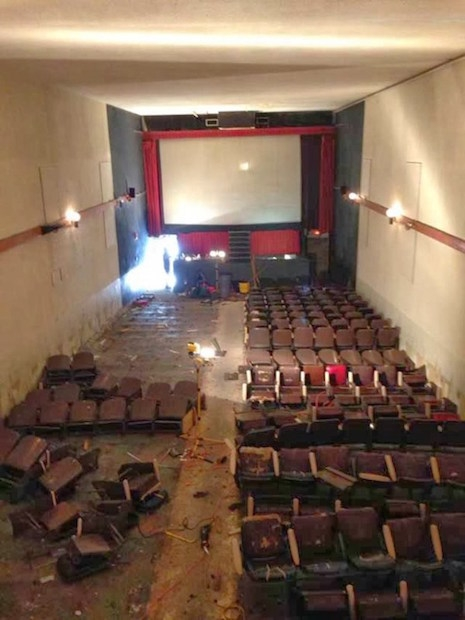 A look inside the decaying adult theater, The Park in Detroit