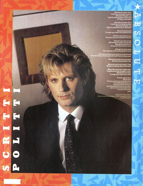 Scritti Politti Smash Hits June 7th, 1983