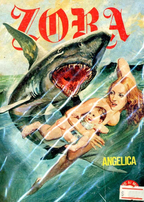 Sexy times with a shark, a nude woman and a baby?