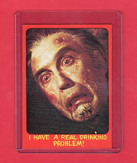 Topps Shock Theater trading card #47 Dracula A.D. (UK version, 1976)