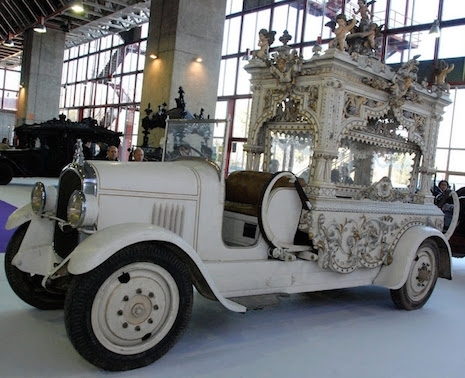 A hearse from Spain called