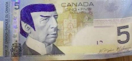 spocjsdfsdfsdfsdf 465 216 int - 'Star Trek' fans told to stop 'Spocking' Canadian $5 bill   Toronto Sun