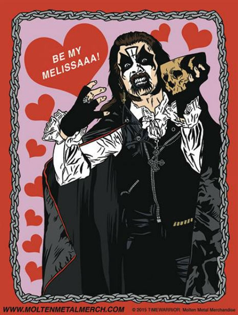 Heavy metal heroes Valentine's Day cards | Dangerous Minds