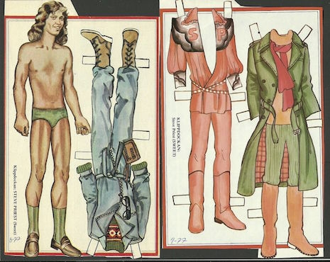 Steve Priest of The Sweet vintage Swesdish paper doll