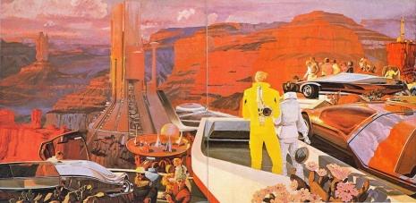 Visual Futurist: Step inside the sci-fi world created by 'Blade Runner' visionary Syd Mead  Sydmeadfugurescenegradcanyonfugurelaksd_465_227_int