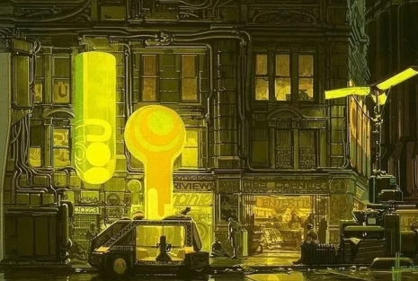 Visual Futurist: Step inside the sci-fi world created by 'Blade Runner' visionary Syd Mead  Taxibaldrunnermeadoijaewfl_465_313_int