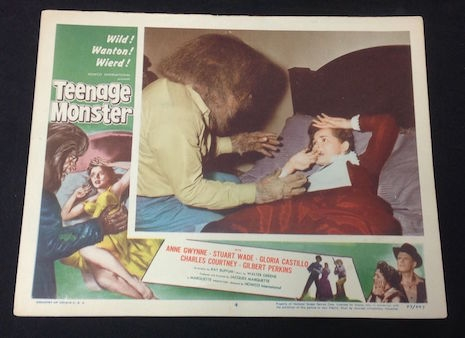Lobby card for Teenage Monster, 1958
