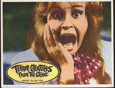 Lobby card for Terror Creatures from the Grave, 1965