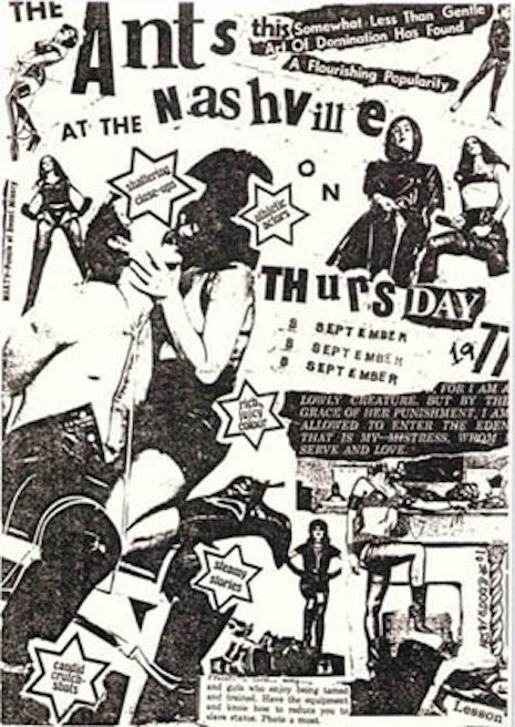 Adam and the Ants show poster for The Nashville, September 1977