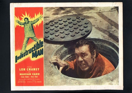 Lobby card for the Indestructible Man, 1956