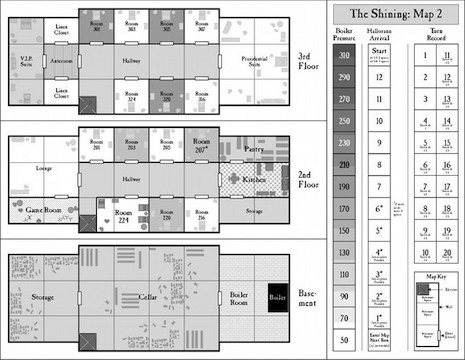 The Shining boardgame layout