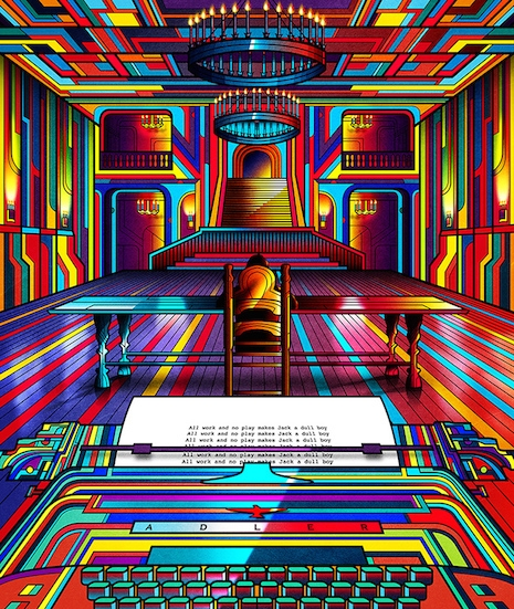 The Shining neon movie poster by Van Orton Design