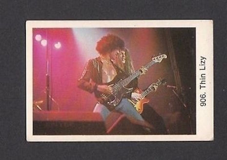 Thin Lizzy vintage Swedish gum trading card, 1970s