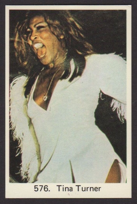 Tina Turner vintage Swedish gum trading card, 1970s