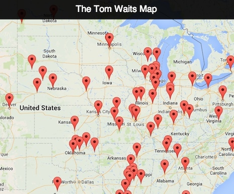 Tom Waits Map