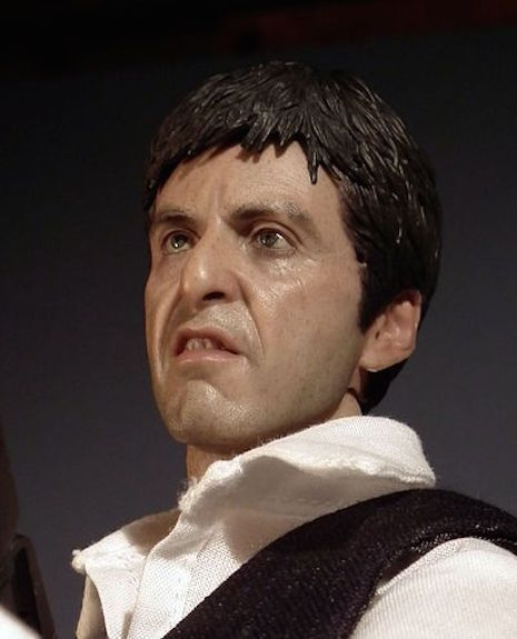 Tony Montana War figure face detail