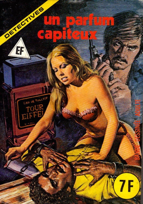 The cover to an adult comic from Italy, 1970s/1980s
