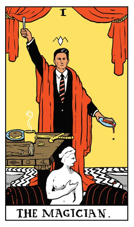 Agent Dale Cooper as The Magician tarot card