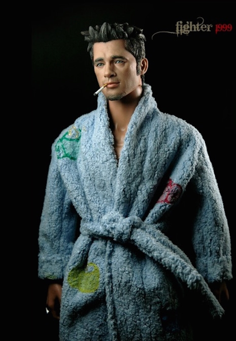 Tyler Durden in blue bathrobe by Rainman