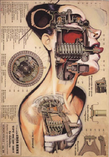 The alluring vivisected mechanical pin-ups of Fernando Vincente