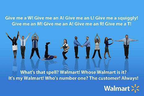 America circa 2013 in a nutshell: The 'Wal-Mart Cheer' is