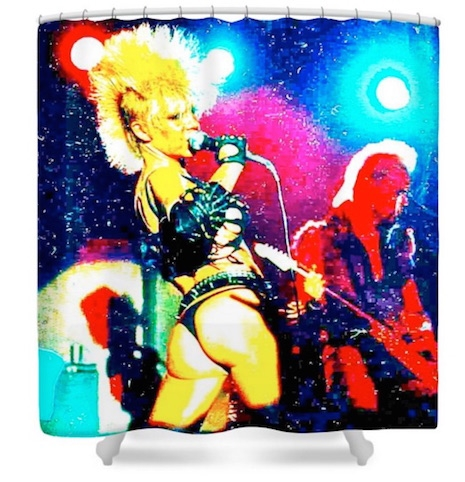 Wendy O. Williams and The Plasmatics shower curtain