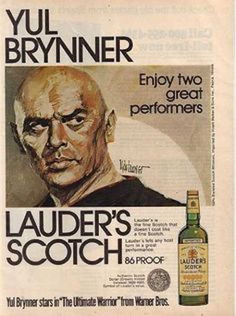 Yuy Brynner for Lauder's Scotch