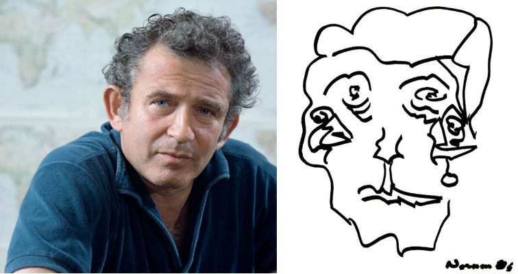 The doodly Picasso faces of Norman Mailer
