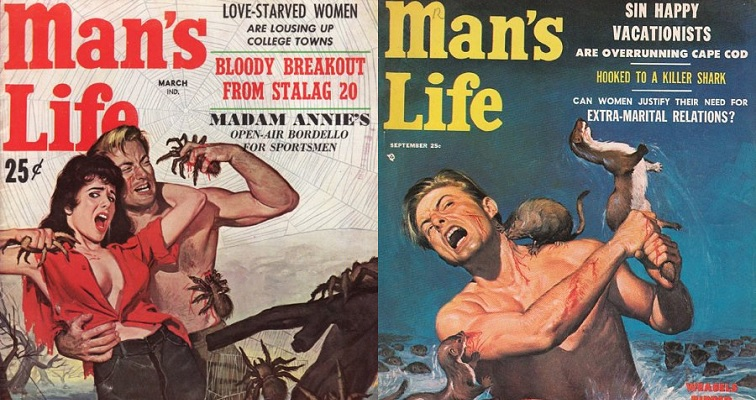 'Weasels Ripped My Flesh': The glorious cover art of 'Man's Life' magazine