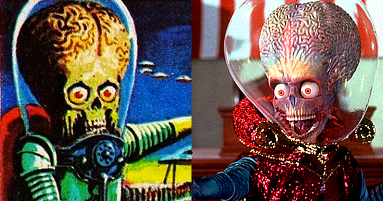 The ultraviolent 1962 'Mars Attacks' trading cards that inspired the Tim Burton movie