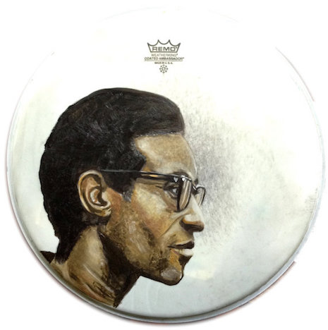Max Roach drum art by Nicole Di Nardo
