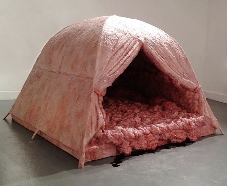 Meat tent: Because art is disgusting