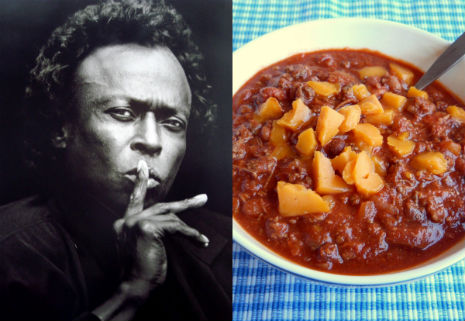 Kind of Spicy: Miles Davis' recipe for 'South Side Chicago Chili Mack'