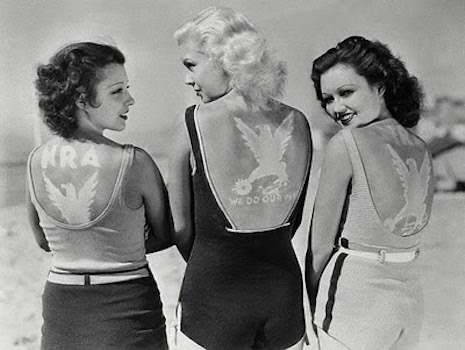 Contestants in the Miss NRA contest in Miami, 1930s