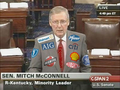 Should politicians be required to wear the logos of their 'sponsors' like NASCAR drivers do?