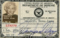 Marilyn Monroe: US Defense Department ID Card, 1954