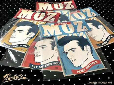 Morrissey stickers by Ganbatte
