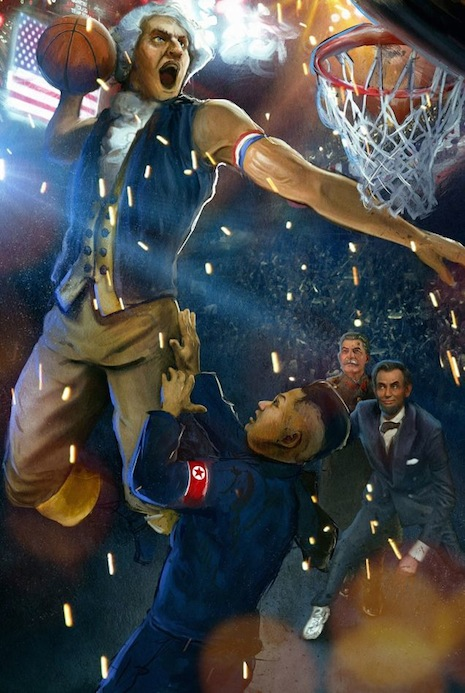 George Washington dunks on Kim Jong-un