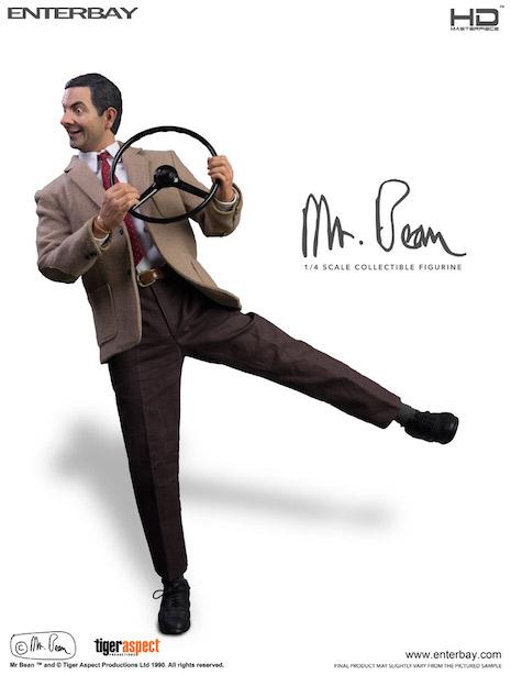 Mr. Bean steering wheel figure