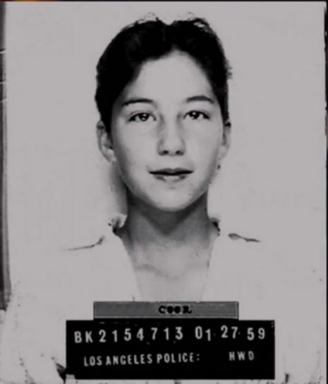 A 13-year-old Cher in a mug shot