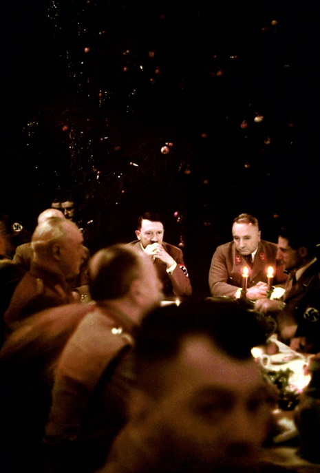 Color photos of Nazi Christmas party attended by Adolf Hitler